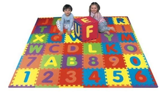 Toddler Alphabet Puzzle Mat Activities