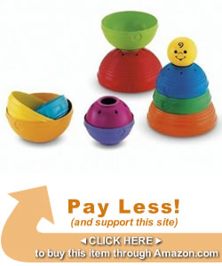 Toddler Toys We Love: Fisher Price Stack and Roll Cups